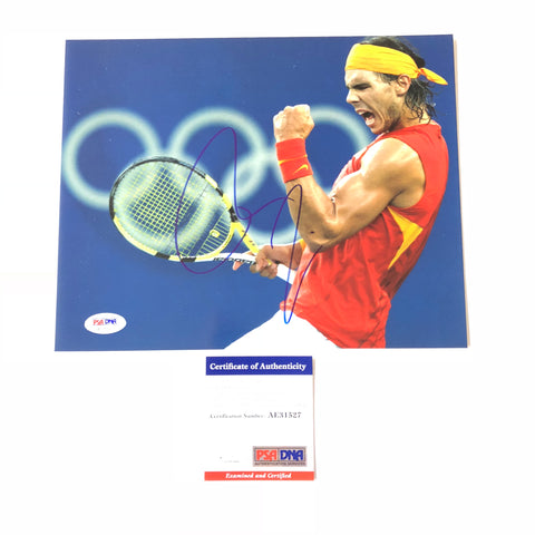 Rafael Nadal signed 8x10 photo PSA/DNA Spain Tennis Autographed