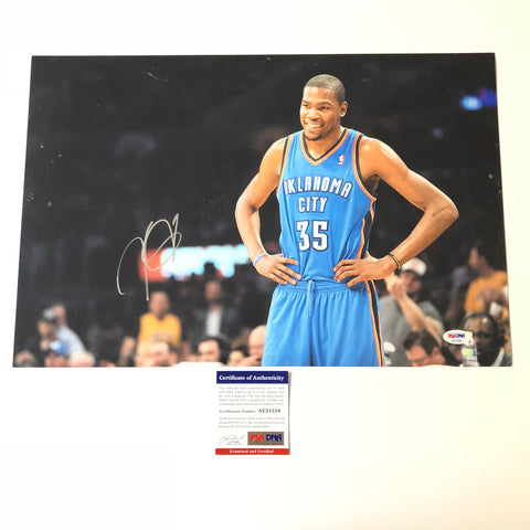 Kevin Durant signed 12x18 photo PSA/DNA Golden State Warriors Autographed OKC Thunder