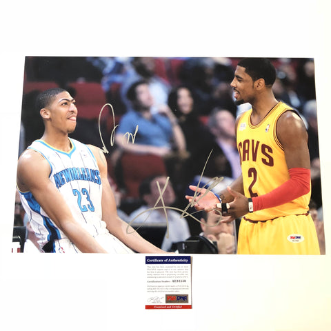 Anthony Davis Kyrie Irving signed 12x18 photo PSA/DNA Rookie Game Autographed USA
