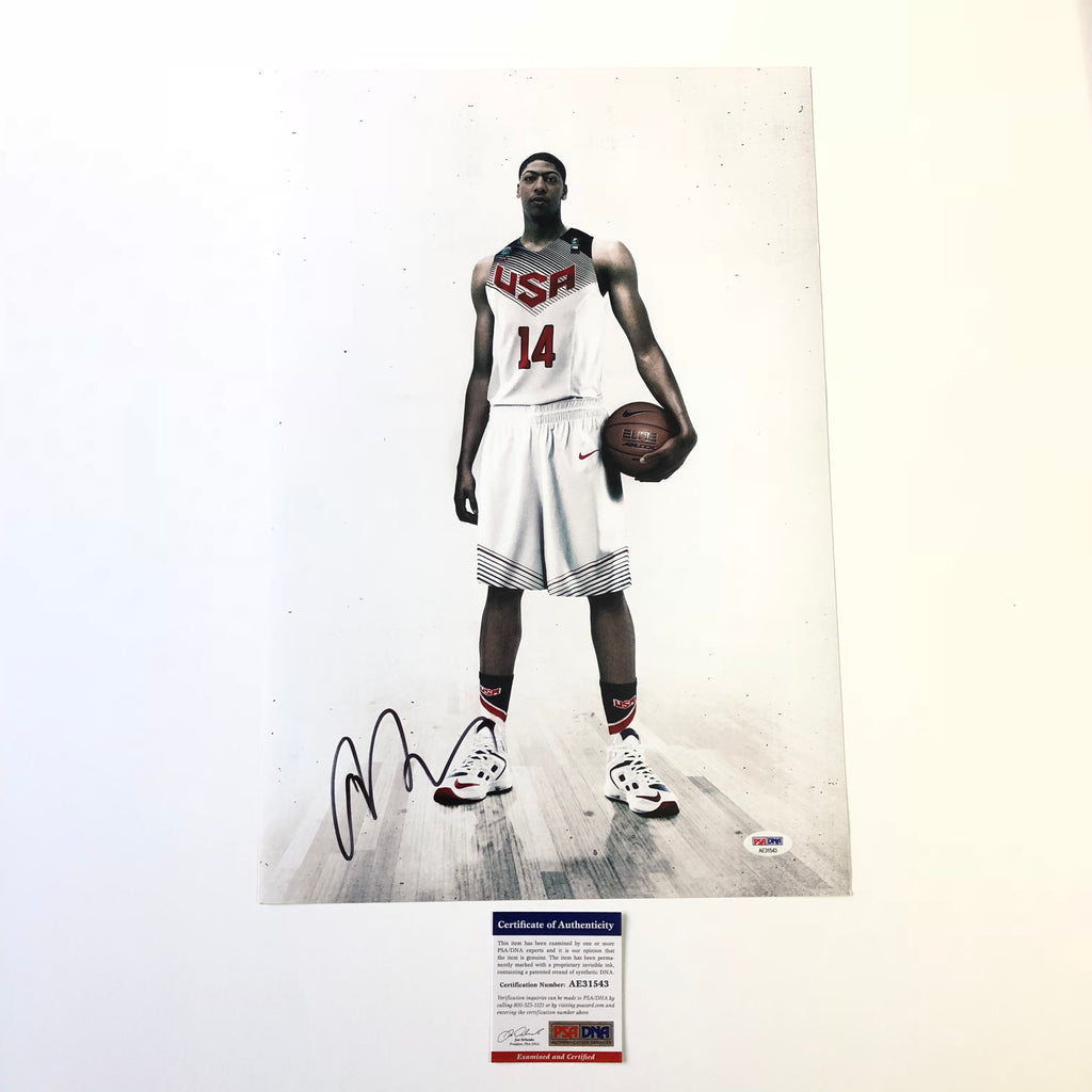 80a47fe24a9 Anthony Davis signed 12x18 photo PSA DNA New Orleans Pelicans Autographed  USA