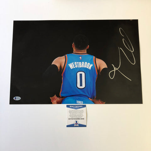 Russell Westbrook signed 12x18 photo BAS Beckett Oklahoma City Thunder Autographed