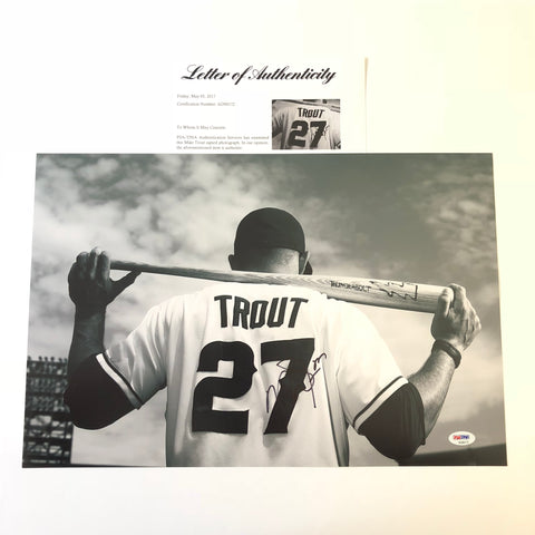 Mike Trout signed 12x18 photo PSA/DNA Los Angeles Angels Autographed