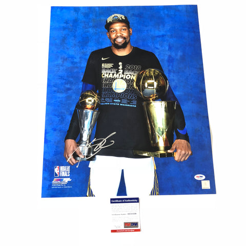 Kevin Durant signed 16x20 photo PSA/DNA Golden State Warriors Autographed