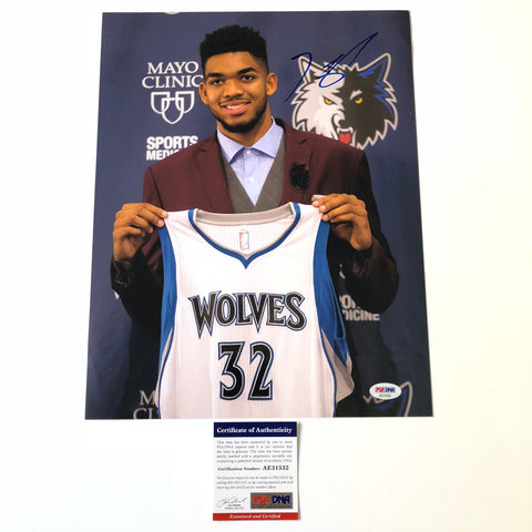 Karl Anthony Towns signed 11x14 photo PSA/DNA Minnesota Timberwolves Autographed