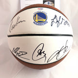 Warriors Team signed Basketball PSA/DNA autographed Curry Durant Green Thompson Kerr
