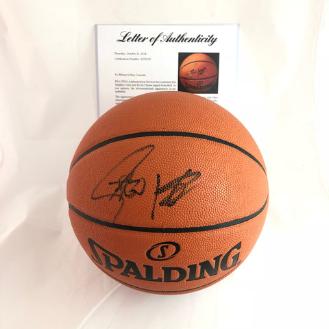Stephen Curry Kevin Durant signed Basketball PSA/DNA Warriors autographed Steph ball