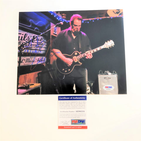 Monti Amundson signed 8x10 photo PSA/DNA Autographed Blues Guitar Player