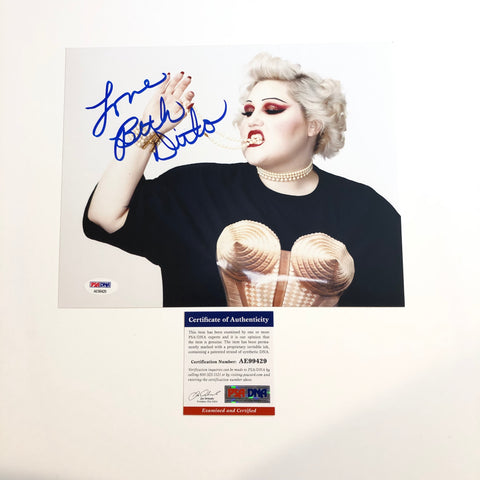 Beth Ditto of Gossip signed 8x10 photo PSA/DNA Autographed