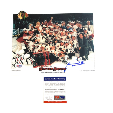 Marian Hossa signed 8x10 photo PSA/DNA Chicago Blackhawks Autographed