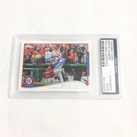 Bryce Harper signed Topps 2013 card PSA/DNA slabbed Autographed AUTO
