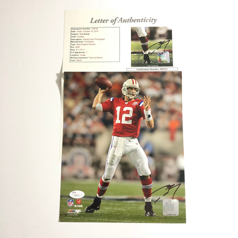 Tom Brady signed 8x10 photo JSA COA New England Patriots Autographed Picture