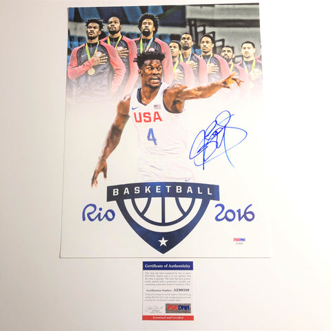 Jimmy Butler signed 11x14 photo PSA/DNA Team USA Autographed Sixers