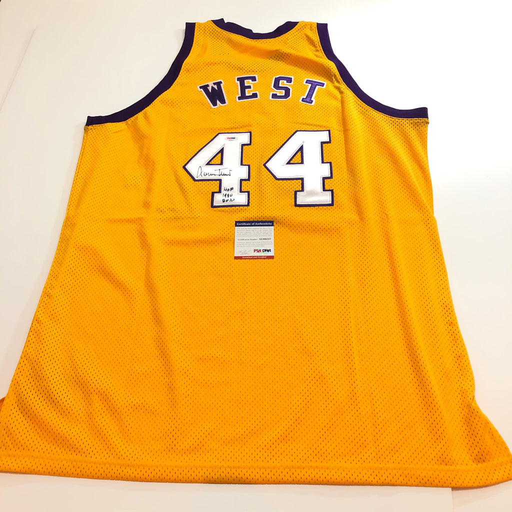 big sale 5ab14 55911 Jerry West signed jersey PSA/DNA Los Angeles Lakers ...