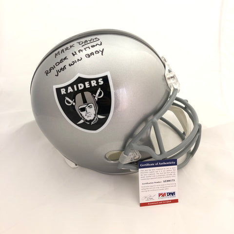 Mark Davis signed Full Size helmet PSA/DNA Oakland Raiders autographed
