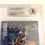 2012-13 Panini Threads Paul George Signed AUTO #56 BAS BGS Beckett Slabbed Autographed