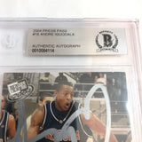 2004 Press Pass Andre Iguodala Signed AUTO #16 BAS BGS Beckett Slabbed Autographed