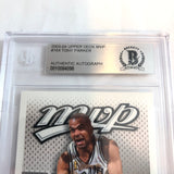 2003-04 Upper Deck MVP Tony Parker Signed AUTO #164 BAS BGS Beckett Slabbed Autographed
