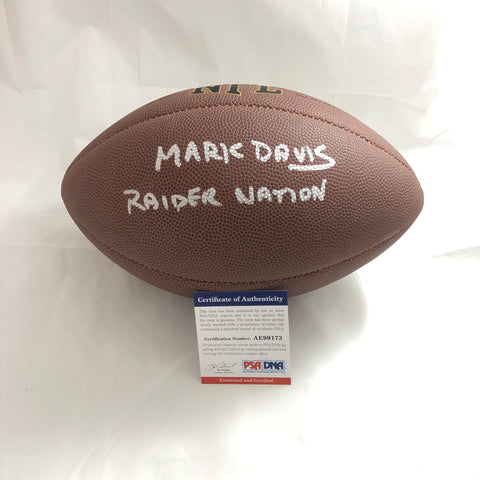 Mark Davis signed Football PSA/DNA Oakland Raiders autographed