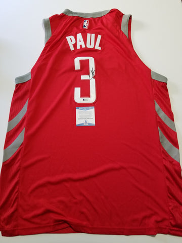 Chris Paul signed jersey BAS Beckett Houston Rockets Autographed Red