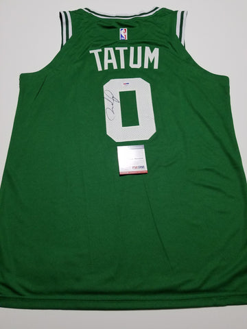 Jayson Tatum Signed Jersey PSA/DNA Boston Celtics Autographed Green