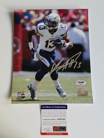 Keenan Allen signed 8x10 photo PSA/DNA Los Angeles Chargers Autographed