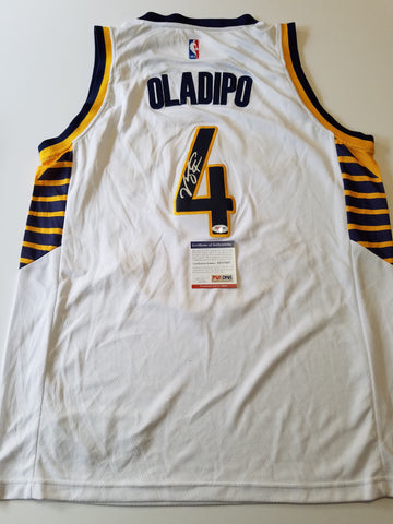 Victor Oladipo signed jersey PSA/DNA Indiana Pacers Autographed white FULL SIGNATURE