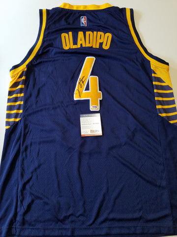Victor Oladipo signed jersey PSA/DNA Indiana Pacers Autographed blue FULL SIGNATURE
