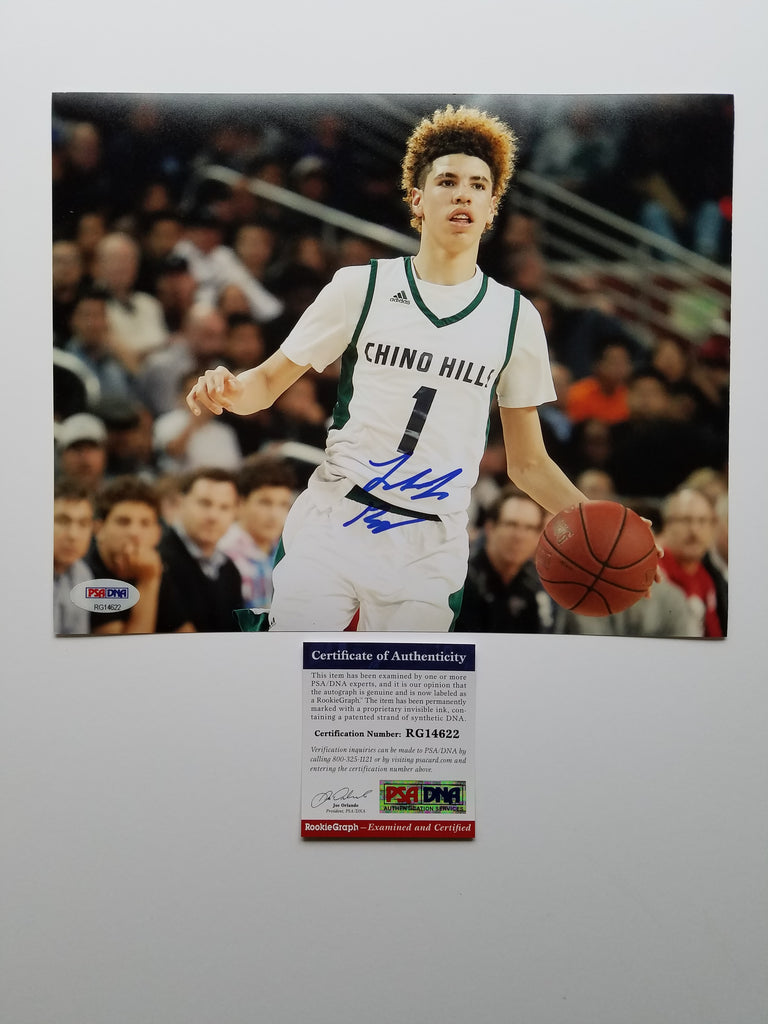1da72394d LaMelo Ball signed 8x10 photo PSA DNA Los Angeles Ballers Autographed