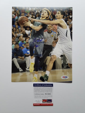 LaMelo Ball signed 8x10 photo PSA/DNA Los Angeles Ballers Autographed