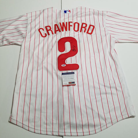 JP Crawford signed jersey PSA/DNA Philadelphia Phillies Autographed