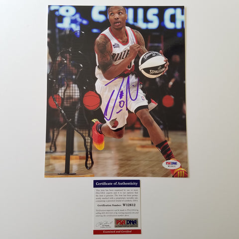 Damian Lillard signed 8x10 photo PSA/DNA Portland Trailblazers Autographed