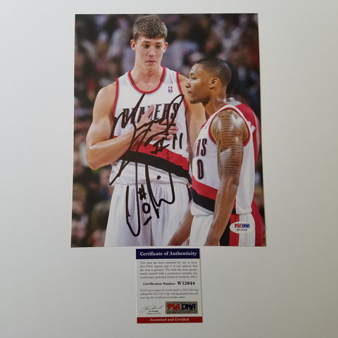 Damian Lillard Meyers Leonard signed 8x10 photo PSA/DNA Portland Trailblazers Autographed