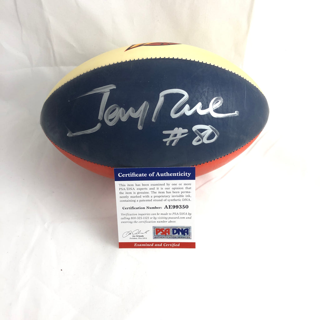 acbc2c9cb43 Jerry Rice signed Mini Football PSA/DNA 49ers autographed Warriors ...
