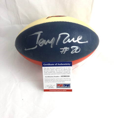 Jerry Rice signed Mini Football PSA/DNA 49ers autographed Warriors