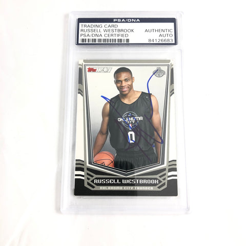 Russell Westbrook signed Rookie card PSA/DNA slabbed Autographed AUTO