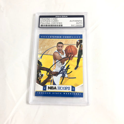 Stephen Curry signed card PSA/DNA slabbed Autographed AUTO Steph