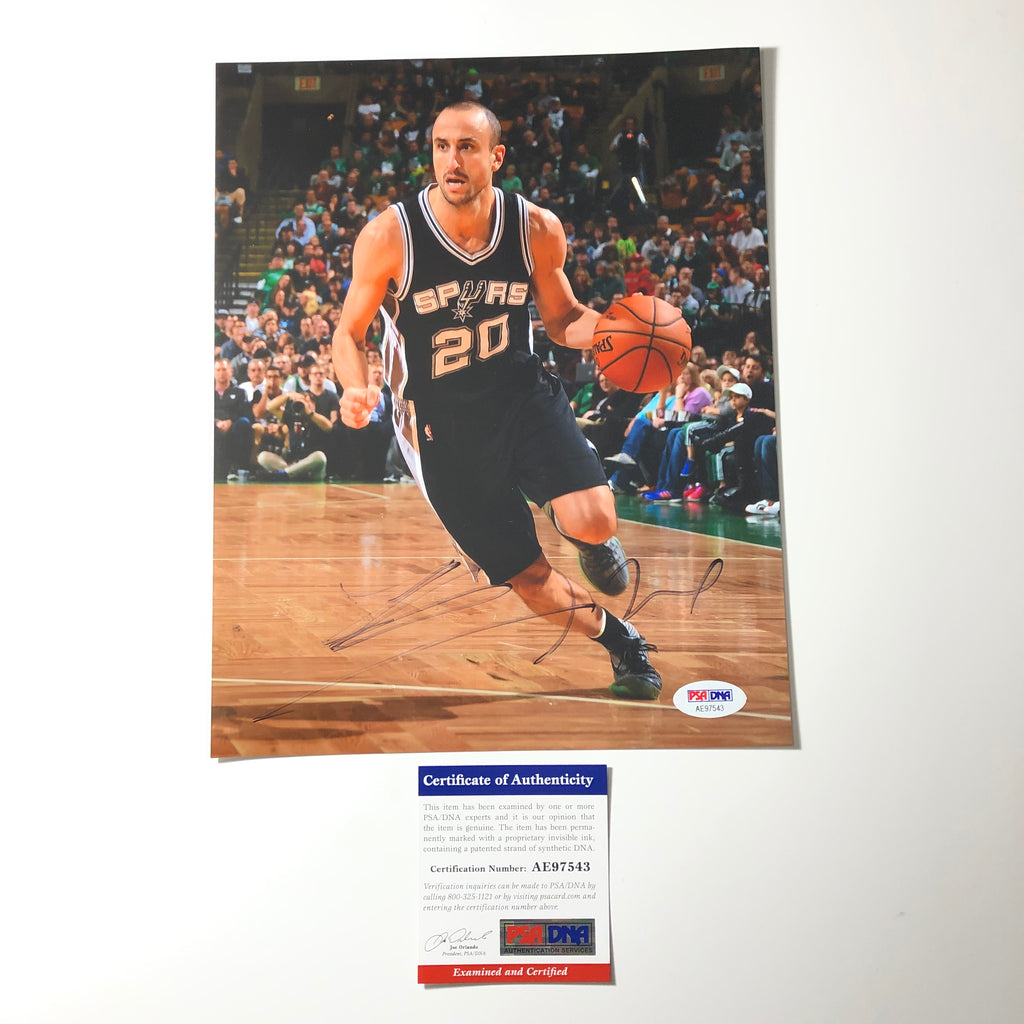 new style 46d73 14616 Manu Ginobili signed 8x10 photo PSA/DNA San Antonio Spurs Autographed