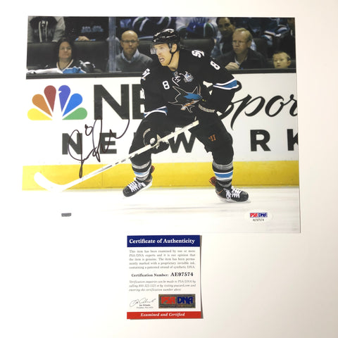 Joe Pavelski signed 8x10 photo PSA/DNA San Jose Sharks Autographed
