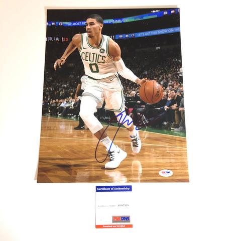 Jayson Tatum signed 11x14 photo PSA/DNA Boston Celtics Autographed