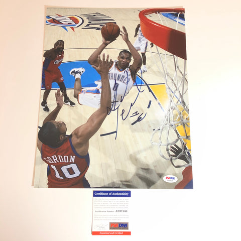 Russell Westbrook signed 11x14 photo PSA/DNA Oklahoma City Thunder Autographed