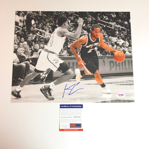 Kawhi Leonard signed 11x14 photo PSA/DNA Toronto Raptors Autographed