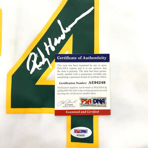 huge selection of a7996 cdeb2 Rickey Henderson signed jersey PSA/DNA Oakland Athletics Autographed