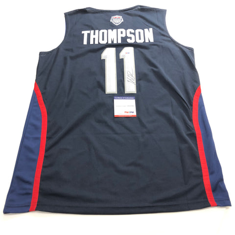 Klay Thompson signed jersey PSA/DNA Team USA Warriors Autographed