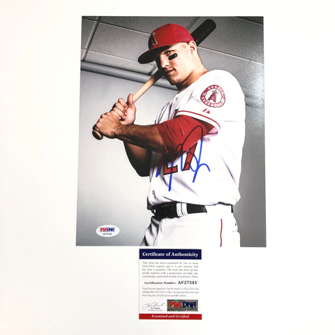 Mike Trout signed 8x10 photo PSA/DNA Los Angeles Angels Autographed