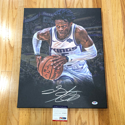 De'Aaron Fox signed 16x20 canvas PSA/DNA Sacramento Kings Autographed