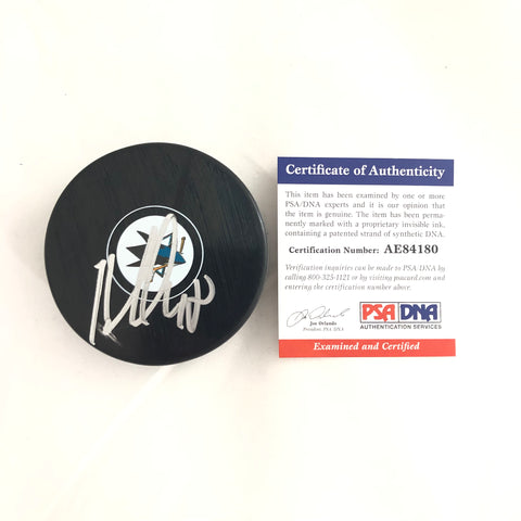 Tomas Hertl signed Hockey Puck PSA/DNA San Jose Sharks Autographed