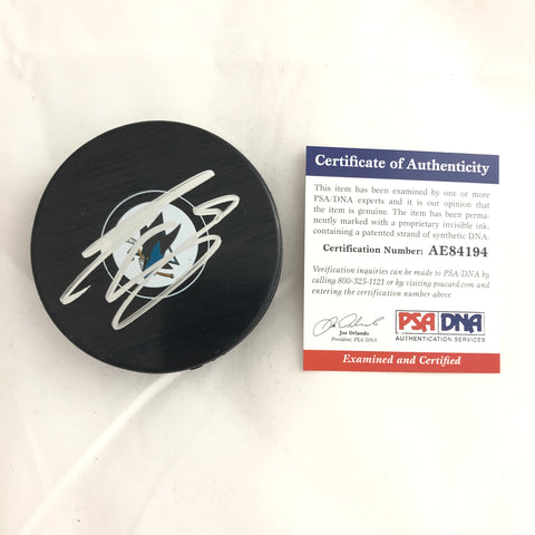 Evander Kane signed Hockey Puck PSA/DNA San Jose Sharks Autographed