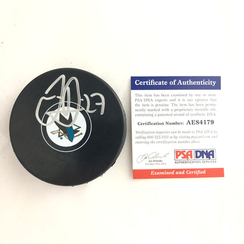Joonas Donskoi signed Hockey Puck PSA/DNA San Jose Sharks Autographed