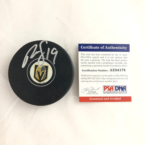 Reilly Smith signed Hockey Puck PSA/DNA Vegas Golden Knights Autographed