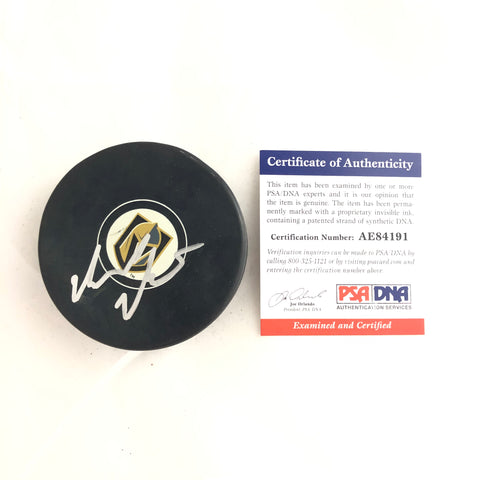 Gerard Gallant signed Hockey Puck PSA/DNA Vegas Golden Knights Autographed